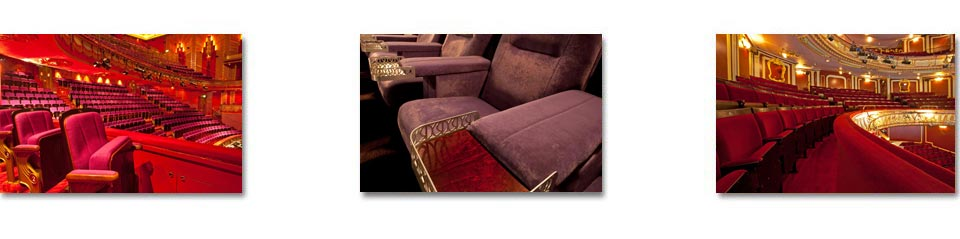 Premium quality auditorium seating in theatres and cinemas of different eras