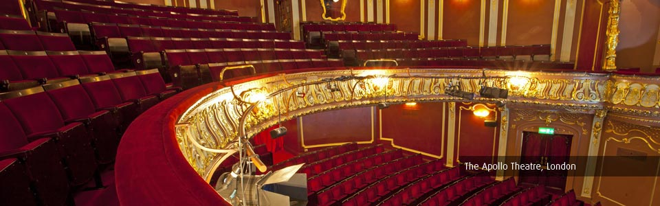 New auditorium seating at the Apollo Theatre, London