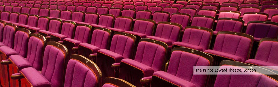 New auditorium seating at the Prince Edward Theatre, London