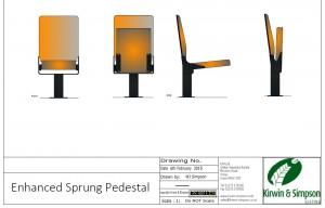 Enhanced Sprung Usher Seat custom seating