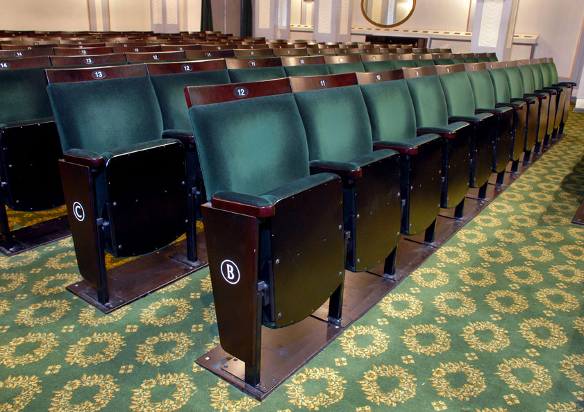 The Fortune Theatre's Probax seating provides extra comfort for customers