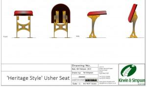 Heritage Style Usher Seat custom seating