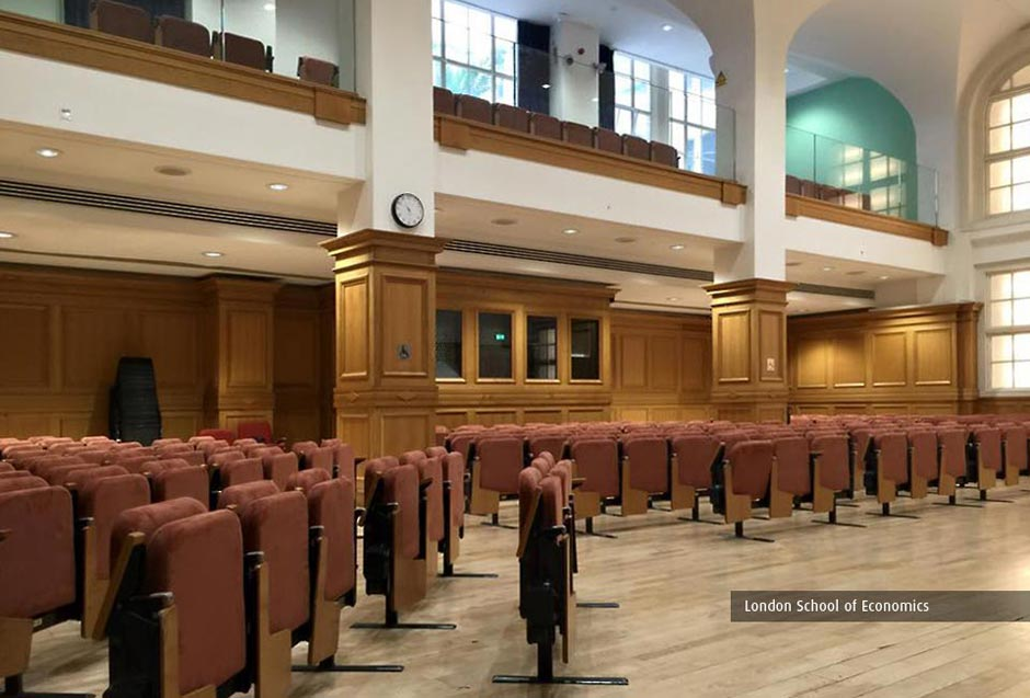 Kirwin & Simpson installed adaptable seating in the London School of Economics Hong Kong Library