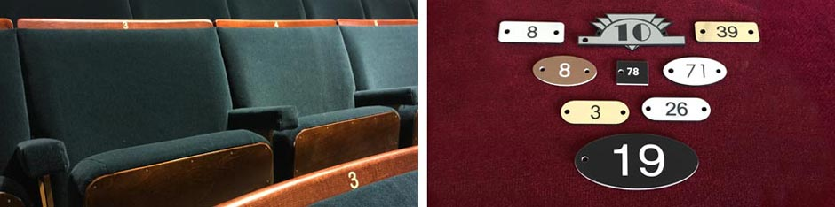 Well designed seat numbers help maintain style and character