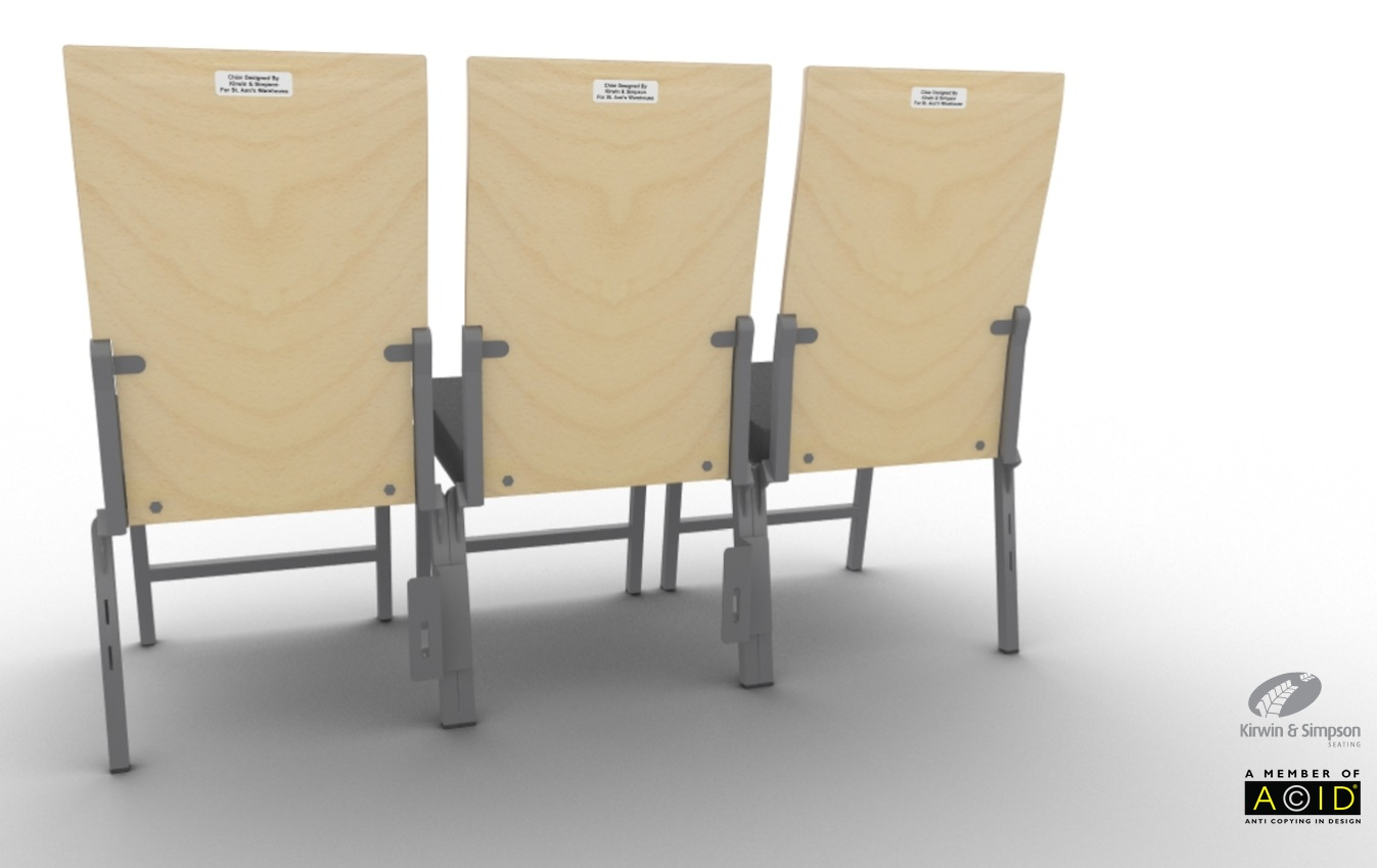 St Anns Armless Chair 2 removable theatre seating