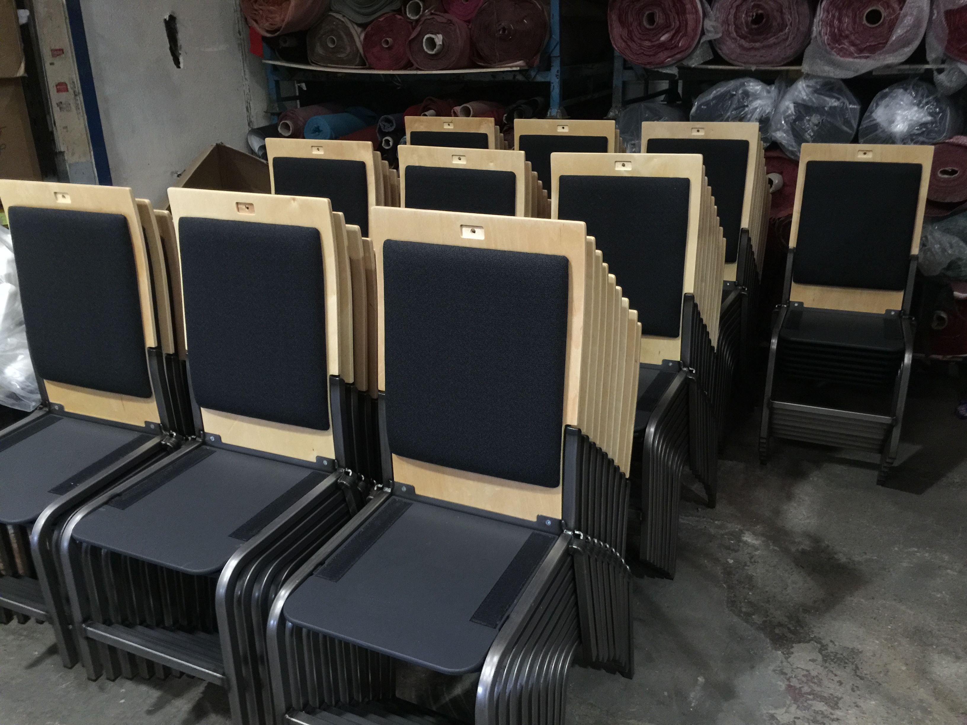Portobello Probax Stacking Chair by Kirwin & Simpson Seating for St Ann's Warehouse NYC