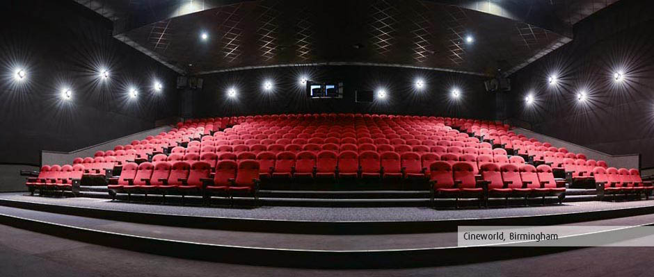 Cineworld, Birmingham, Cinema seating by Kirwin & Simpson