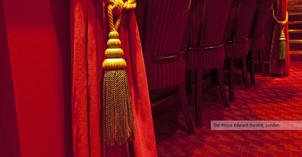 Kirwin & Simpson can create bespoke curtains to match heritage theatre interiors