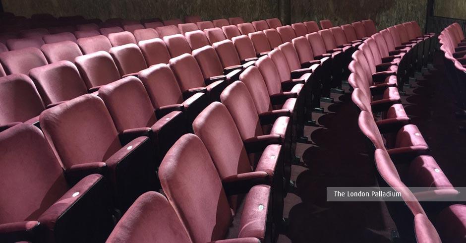 Kirwin & Simpson have refurbished the auditorium seating at the London Palladium