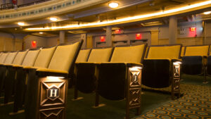 Oxford Traditional Hardwood Theatre Chairs by Kirwin & Simpson for Hudson Theatre Broadway