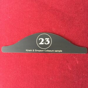 an image of a #23 number plate for chairs by Kirwin & Simpson Seating