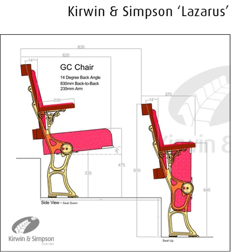CAD Drawing for Regent Lazarus Grand Circle Chair by Kirwin & Simpson Seating